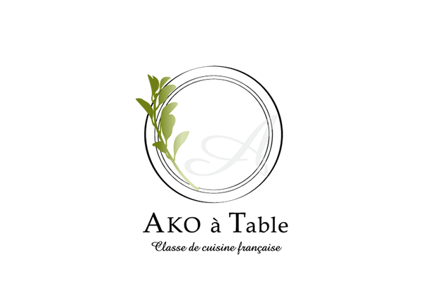 Designed a logo.【Ako  à Table】