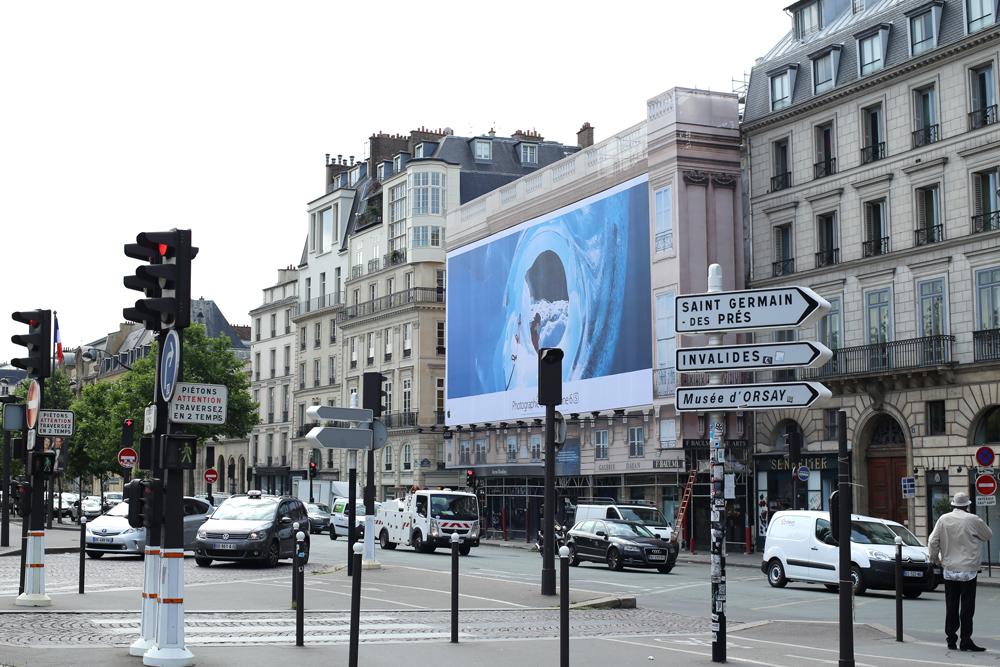 パリの建築現場シート事情